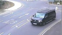 A CCTV image of a black modified VW Transporter leaving the Redstone Hill area of Redhill in Surrey (Surrey Police/PA)