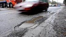 The RAC has issued a warning about potholes