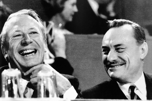 Edward Heath and Enoch Powell at the 1967 Conservative Party conference.