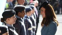 The Duchess of Cambridge meets RAF air cadets as the corps celebrates its 75th anniversary
