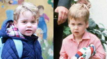 Prince George v Prince William: Whose first day at nursery was cuter?