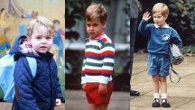 Prince George and Prince William and Harry aged 3