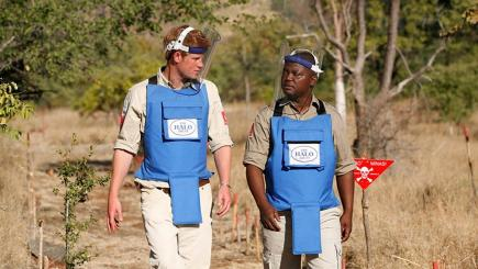 Honouring Diana, Prince Harry urges landmine-free world by 2025