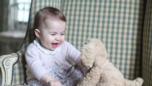 Official photo of Princess Charlotte, taken by the Duchess of Cambridge.