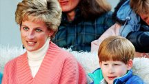 Princess Diana with Prince Harry in 1994