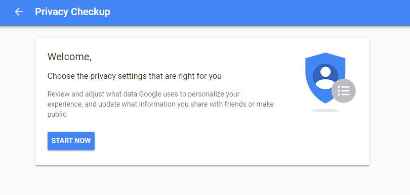 how to change privacy settings on google