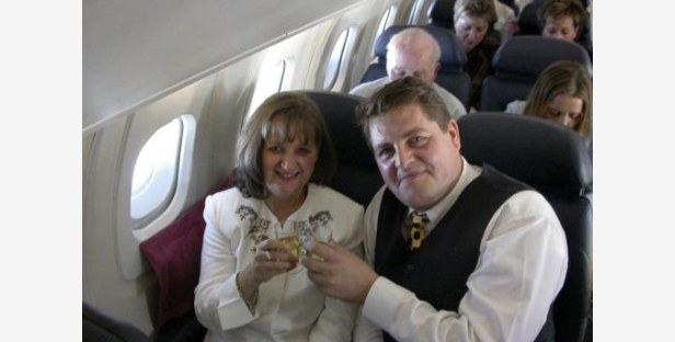 Rupert Pilgrim who proposed to his girlfriend Catherine Murray at 60,000 feet on Concorde's last ever flight out of Edinburgh.