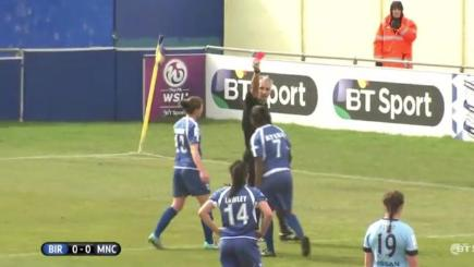 Punches thrown in women's football match