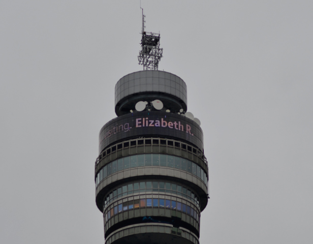 The Queen's tweet on the BT Tower
