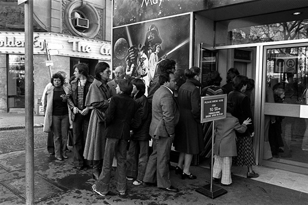 Cinemagoers queue round the block to see Star Wars