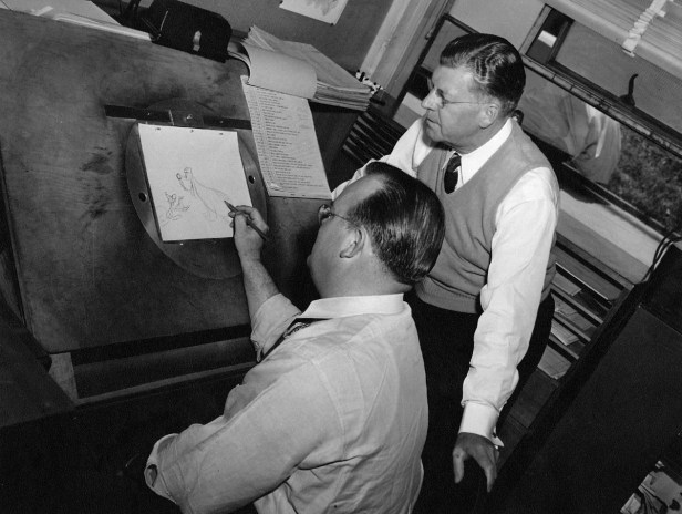 Tex Avery and fellow Looney Tunes creator Fred Quimby.