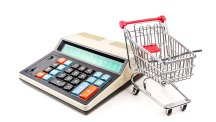 Shopping trolley and calculator T