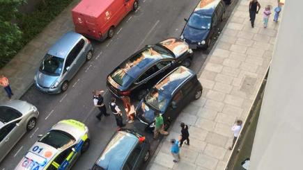There was a parking space stand-off in London
