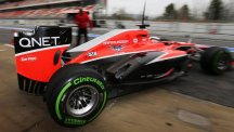 The Marussia team auctioned a large number of parts