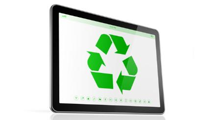 Recycled tablet