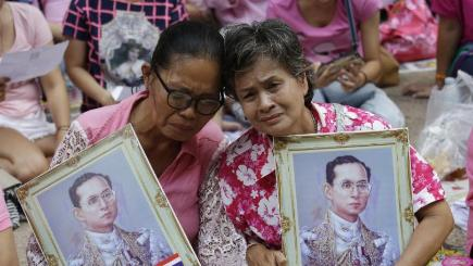 King of Thailand's Body Transferred to Palace as Year of Mourning Begins