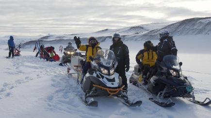 Members of the Endurance 100 expedition in training earlier this year
