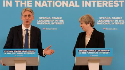 UK PM May endorses finance minister Hammond after reports of rift