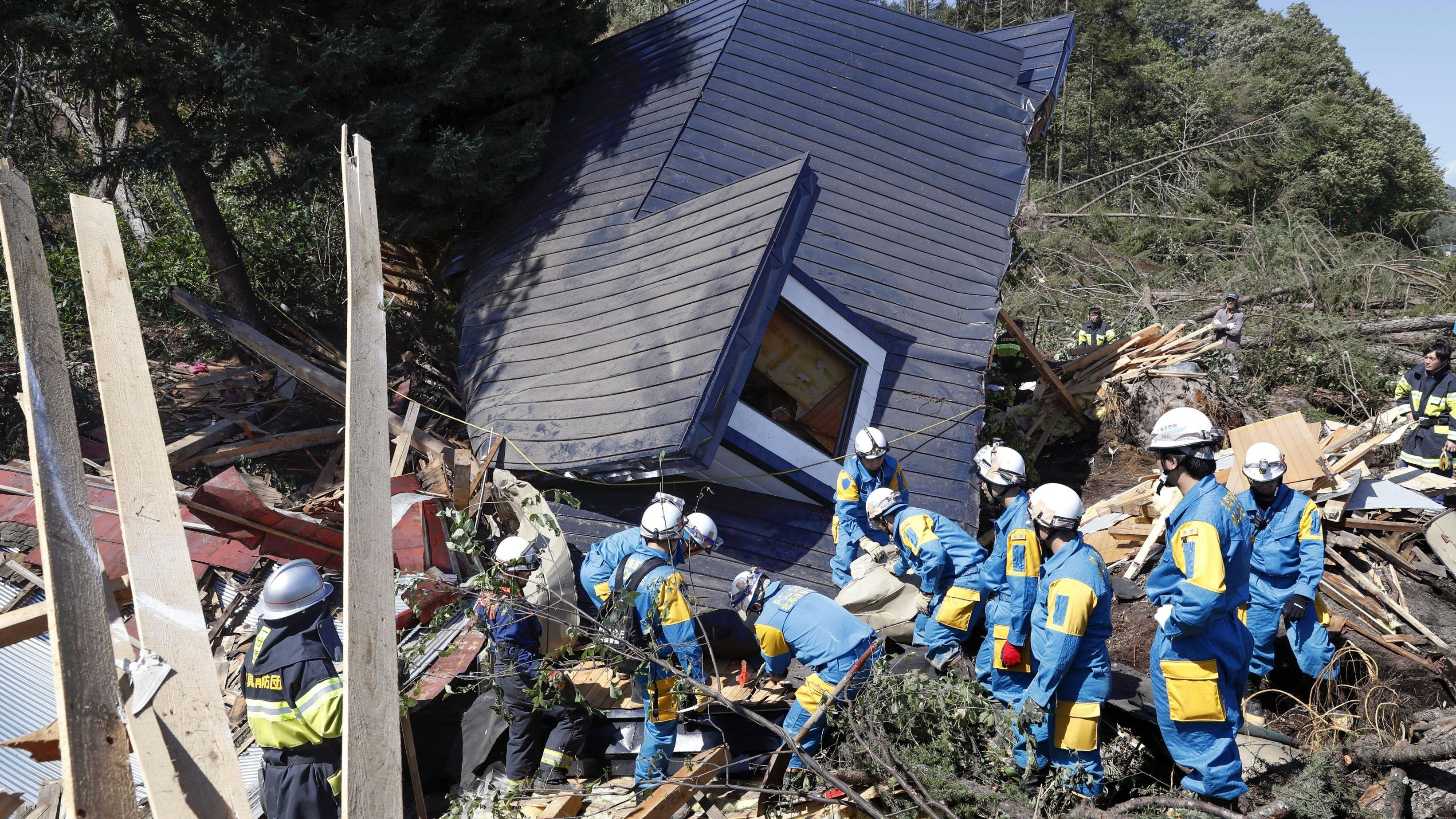 Rescuers Search For Survivors After Deadly Quake Hits