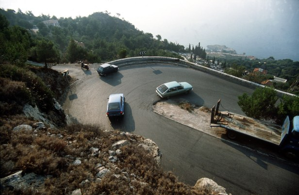 The site of the accident, near Cap d'Ail on the French Riviera.