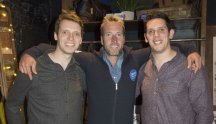 Rob and Paul Forkan with Ben Fogle