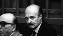 Roberto Calvi during his trial the year before his death.