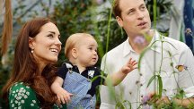 Duke and Duchess of Cambridge with son George at butterfly exhibition