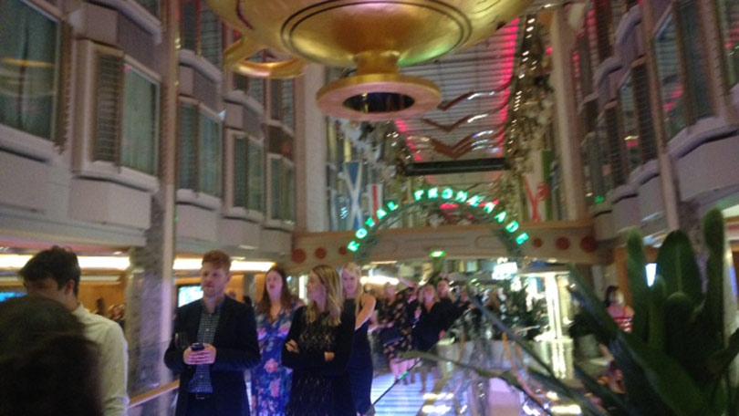 Cruise ship promenade