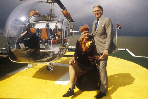 Joan and Roy Bates, Princess and Prince of Sealand, in 1979.