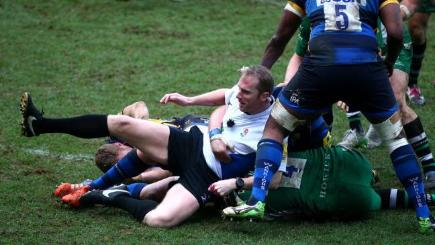 Rugby ref Barnes floored by crunching tackle