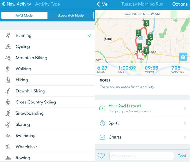 Runkeeper app