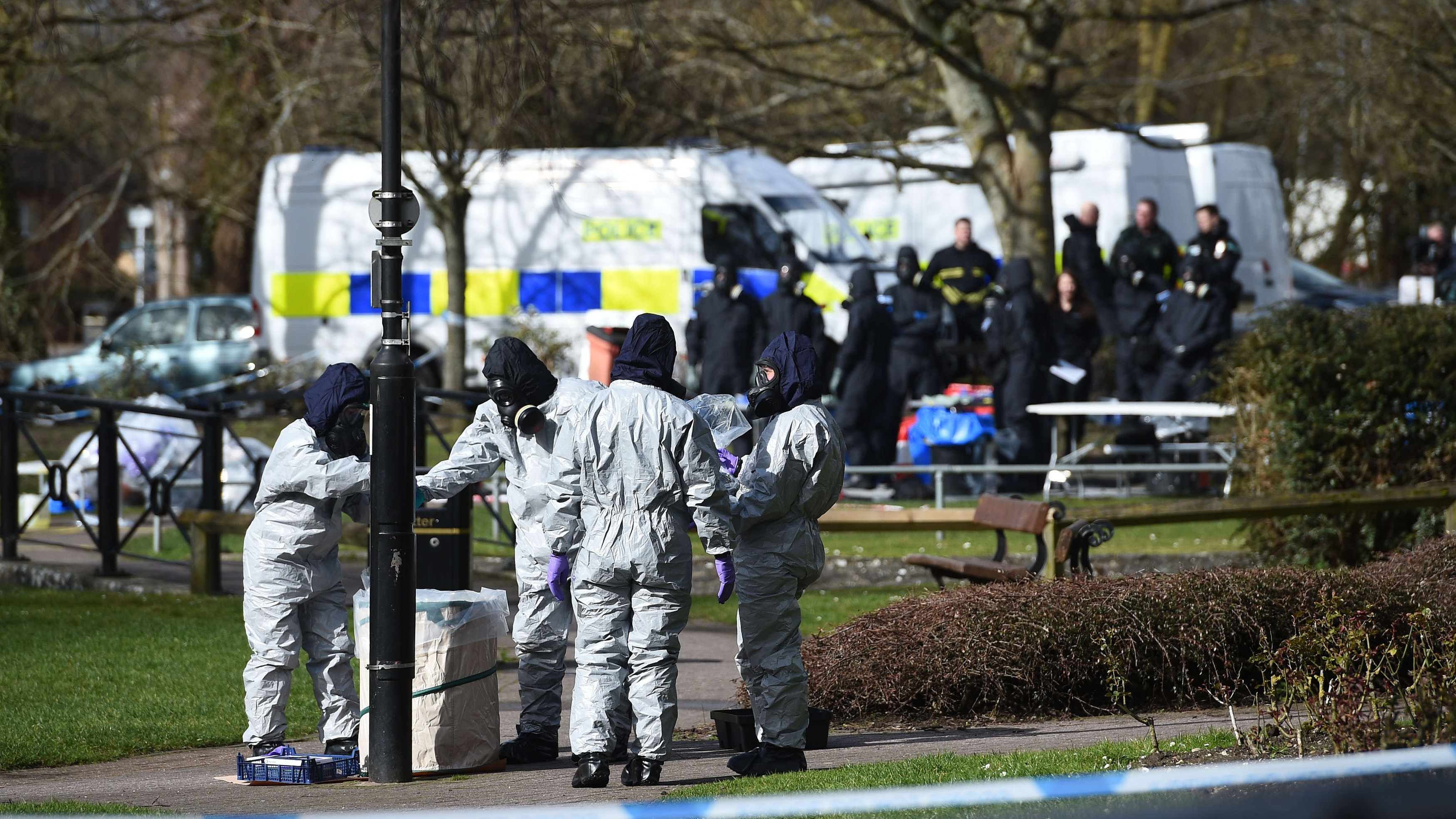 Britain, Russia trade blame over poisoning of former spy