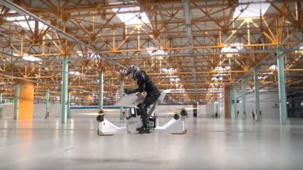 Russian start-up company invents hoverbike