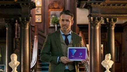 Ryan Reynolds BT advert holding tablet