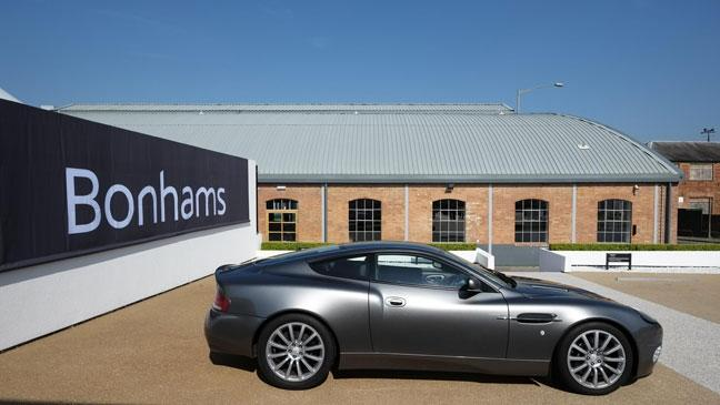 aston martin sale. Picture Of An Aston Martin Outside Bonham\u0027s Auction In Newport Pagnell, May 2015. Sale