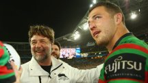 Sam Burgess and Russell Crowe
