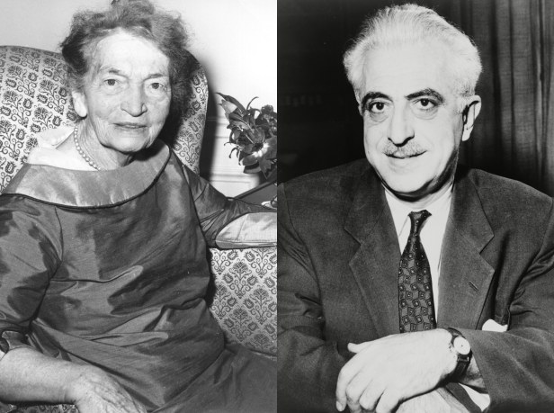 Margaret Sanger and Dr Gregory Pincus, developers of the pill