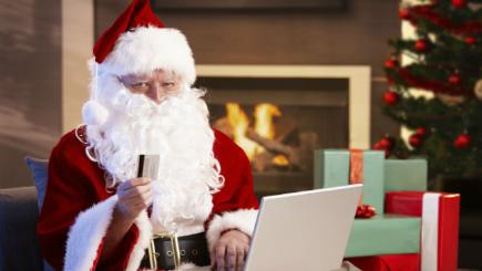 Santa with a credit card