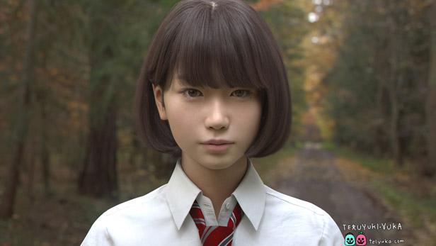 Saya, the computer-generated schoolgirl