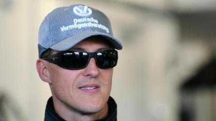 Michael Schumacher, pictured off the track when a Mercedes F1 driver.
