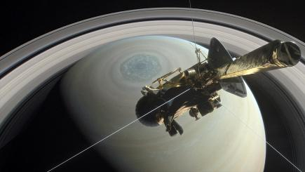 NASA's Cassini makes final flyby of Saturn's giant moon