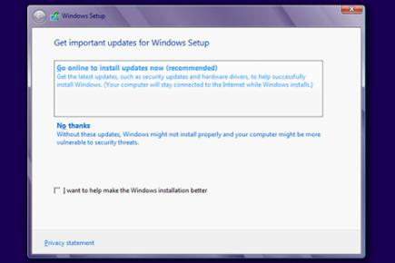 Step 3: Update the Windows 8 installer