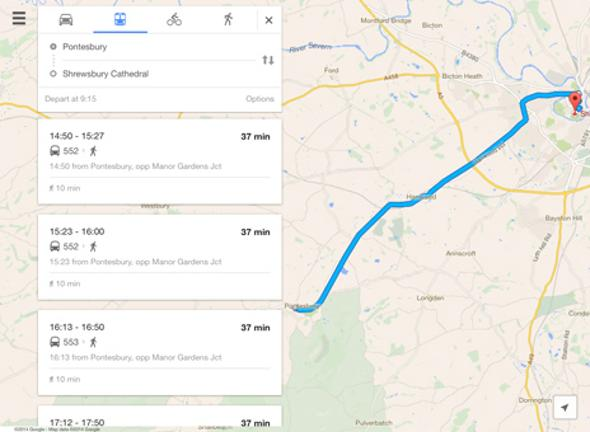 9 secrets of google maps on your ipad bt tip 2 get public transport directions instead gumiabroncs Gallery