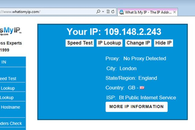 What your computer's IP address?