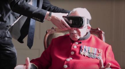 Second World War veteran uses virtual reality to return to scene of battle