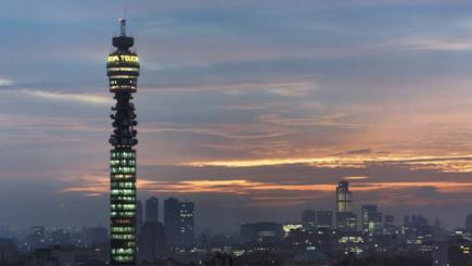 BT Tower at sunset London