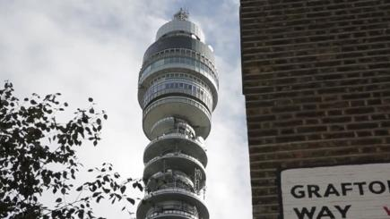 BT Tower with wall