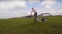 See British inventor Colin Furze try to fly his homemade hoverbike
