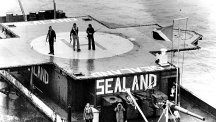 Armed guards stand by to repel invaders on Sealand