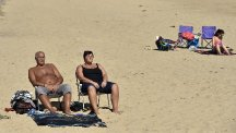 People sunbathed on Tynemouth beach as September enjoyed temperatures touching 25C